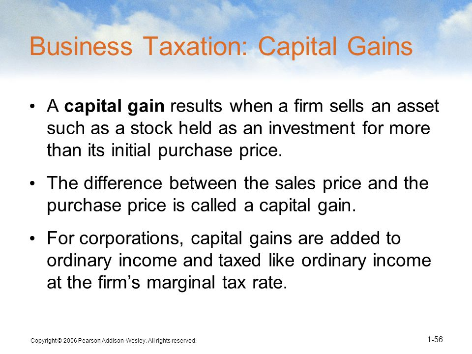 Business Taxation: Capital Gains