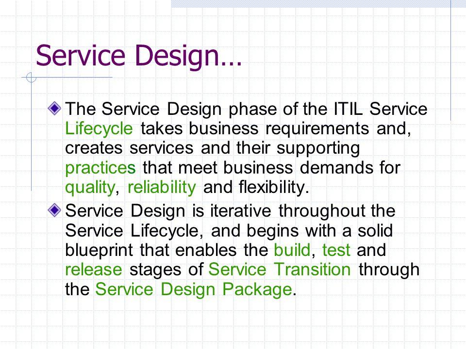 Service Design…