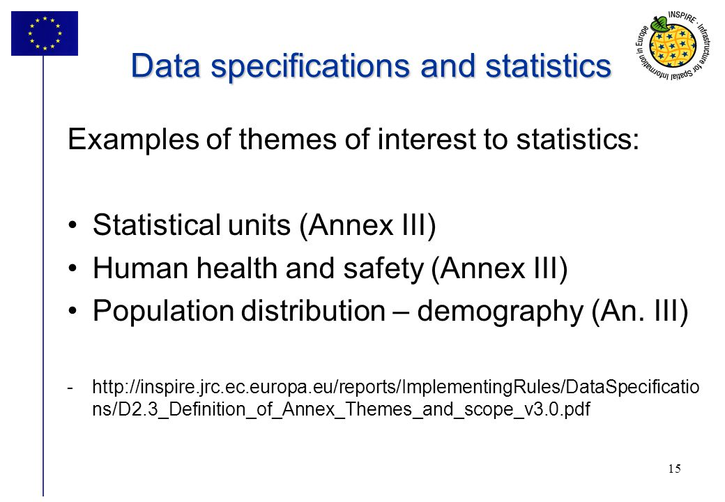 Data specifications and statistics