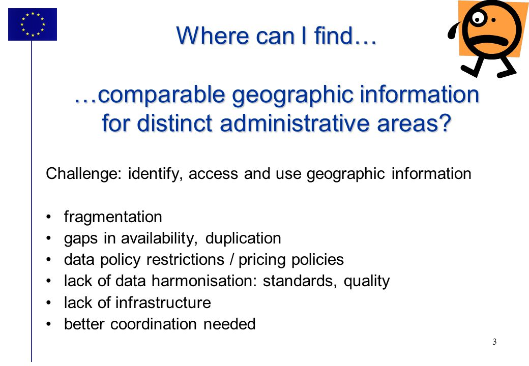 Where can I find… …comparable geographic information for distinct administrative areas