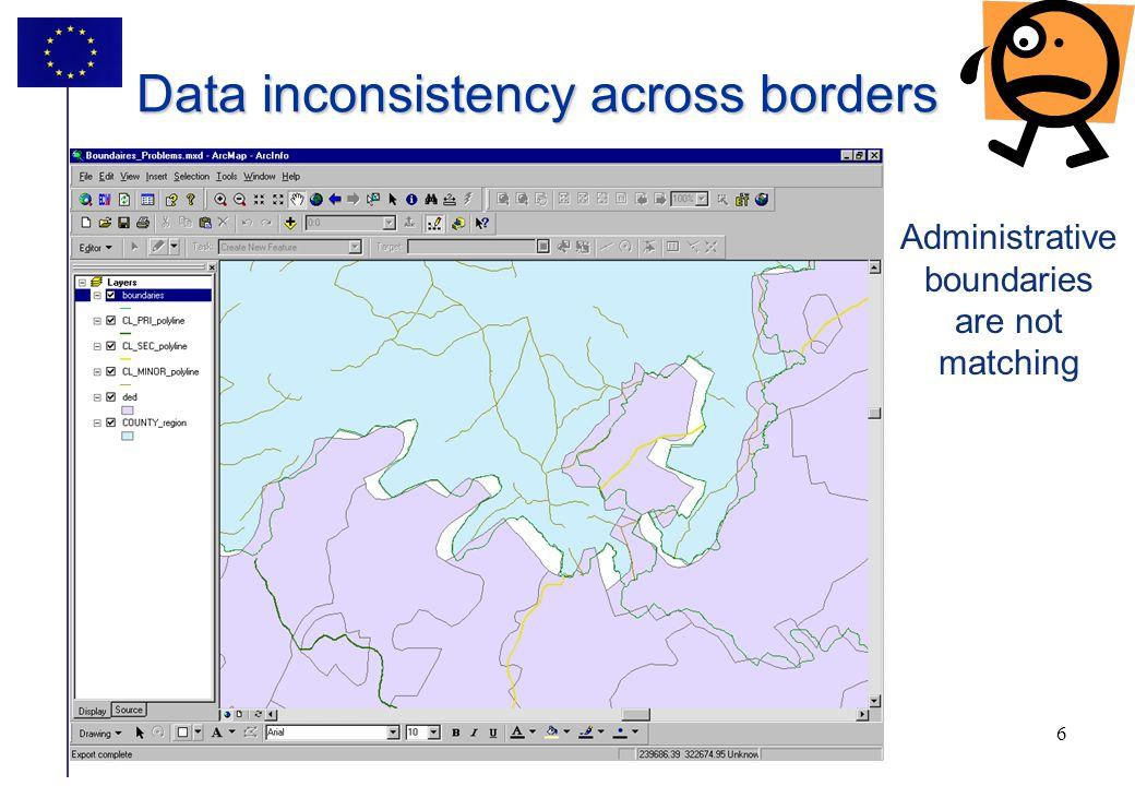 Data inconsistency across borders