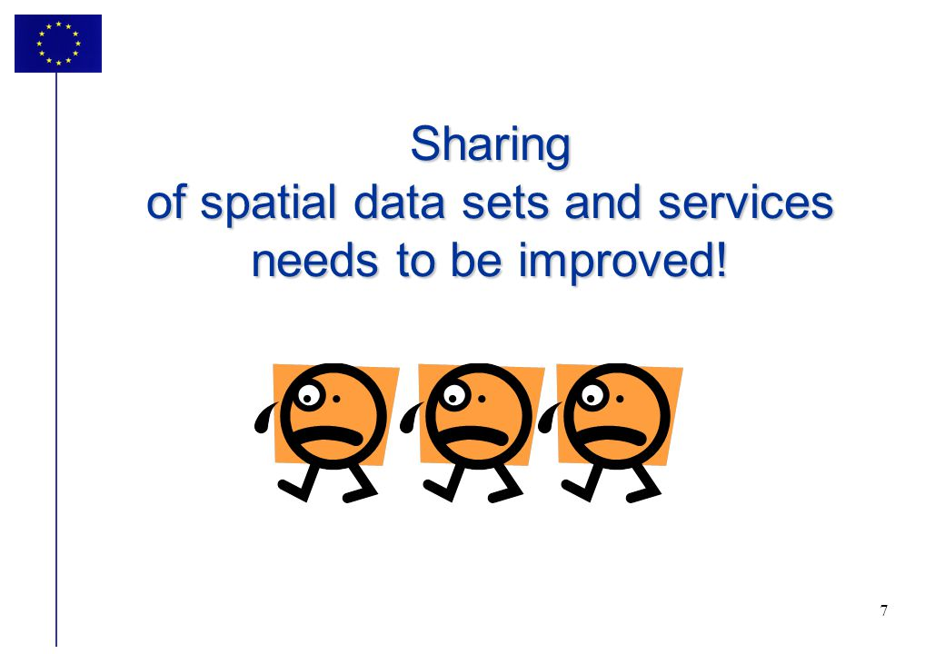 Sharing of spatial data sets and services needs to be improved!