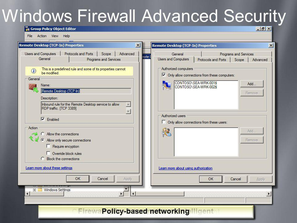 Windows Firewall Advanced Security
