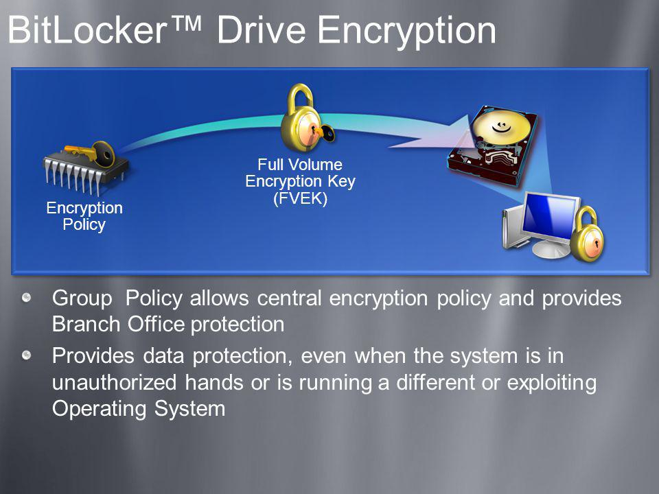 BitLocker™ Drive Encryption