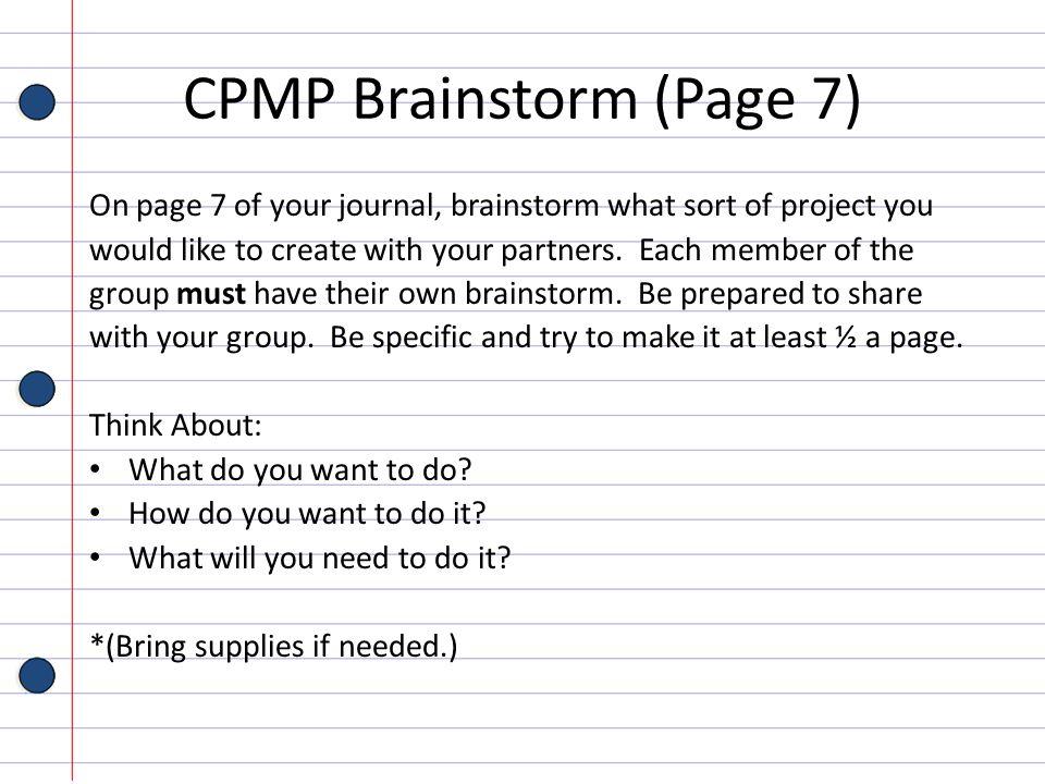 CPMP Brainstorm (Page 7)