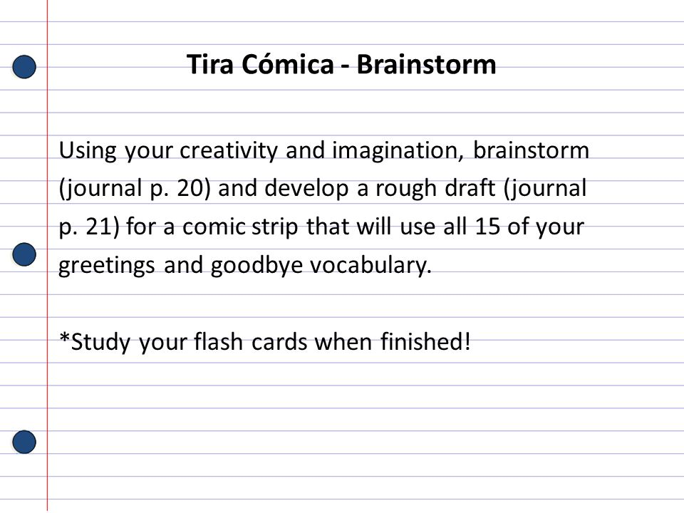 Tira Cómica - Brainstorm