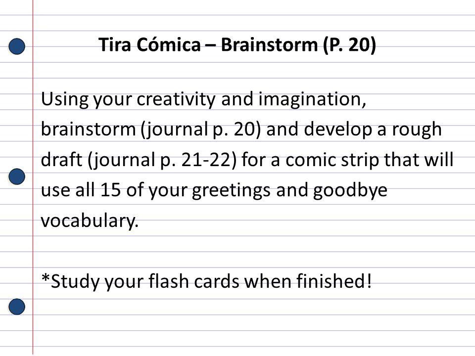 Tira Cómica – Brainstorm (P. 20)