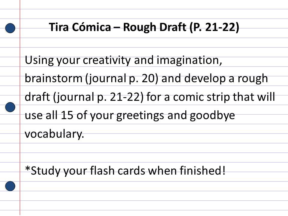 Tira Cómica – Rough Draft (P )