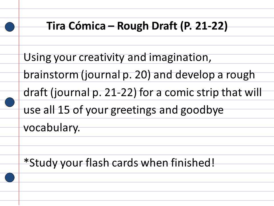 Tira Cómica – Rough Draft (P. 21-22)