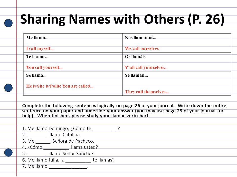 Sharing Names with Others (P. 26)