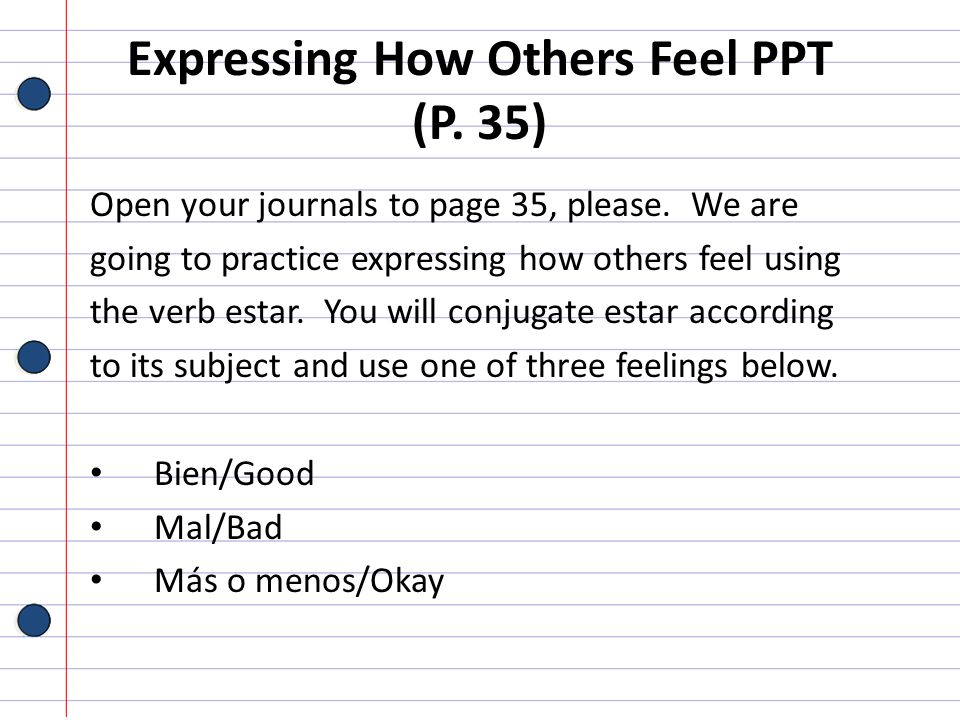 Expressing How Others Feel PPT (P. 35)