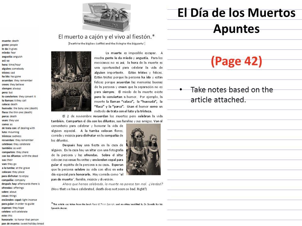 El Día de los Muertos Apuntes (Page 42)