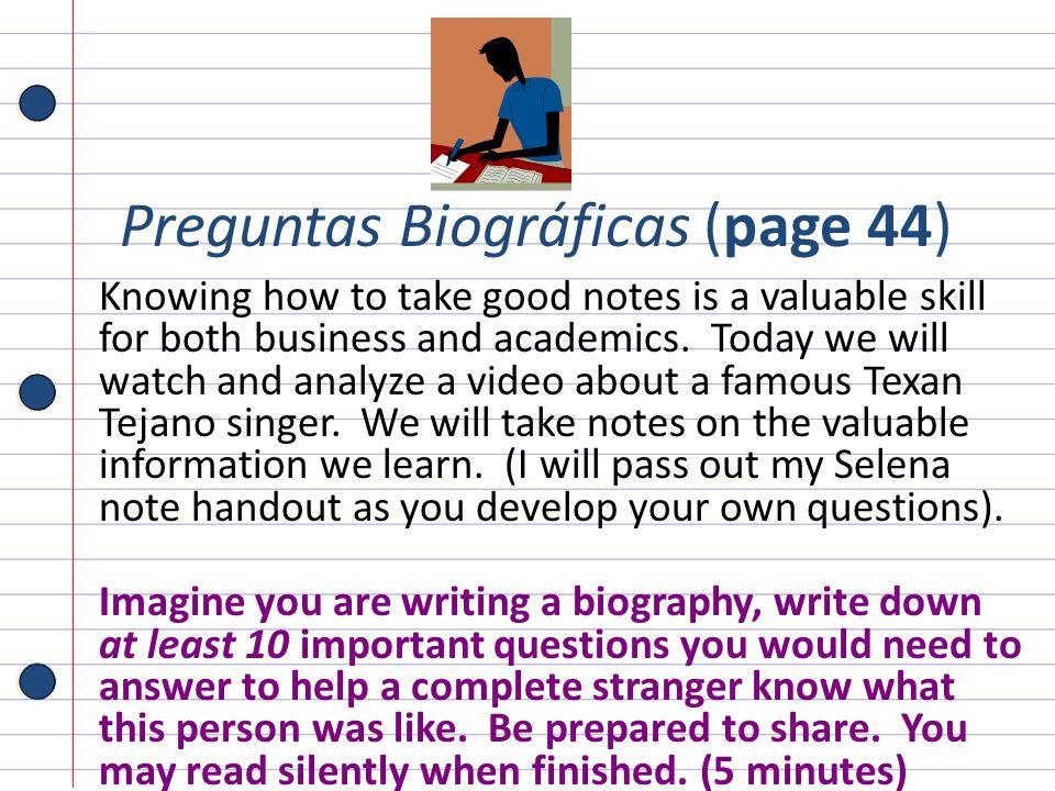 Preguntas Biográficas (page 44)