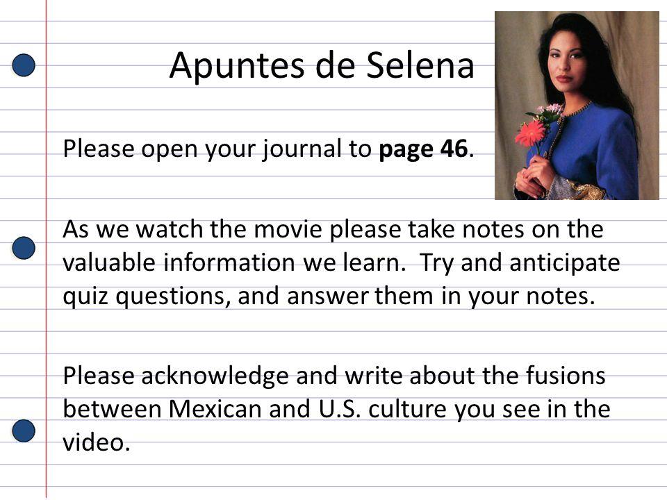Apuntes de Selena