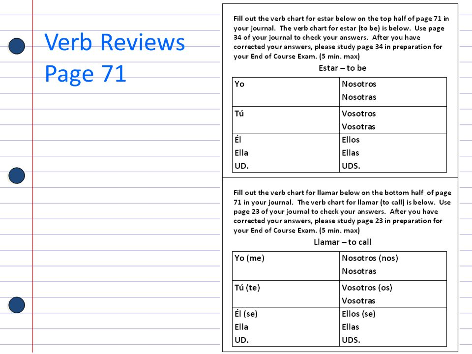 Verb Reviews Page 71