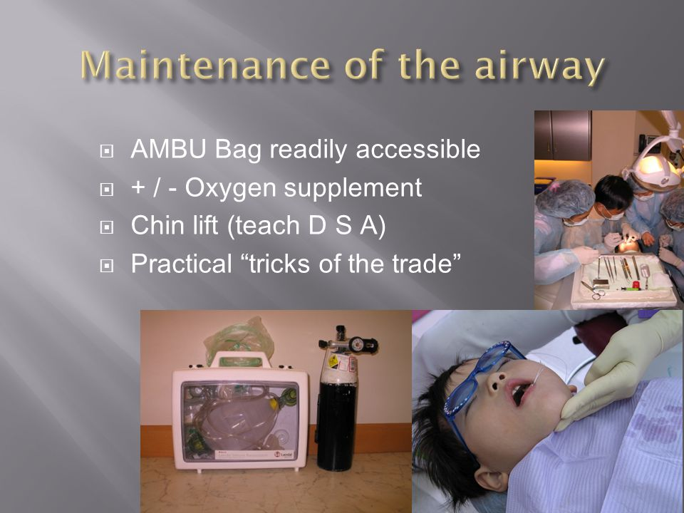Maintenance of the airway