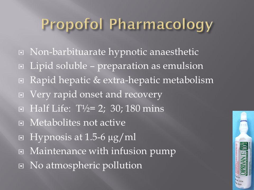 Propofol Pharmacology