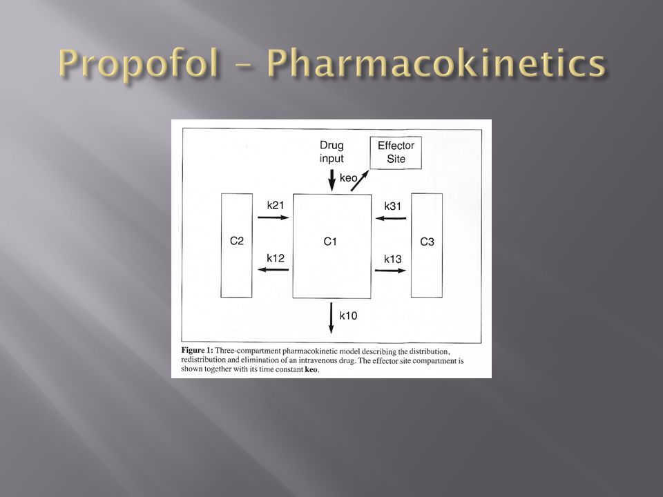 Propofol – Pharmacokinetics
