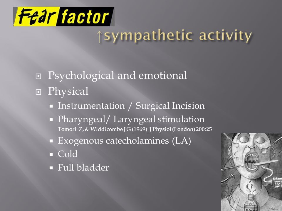 ↑sympathetic activity