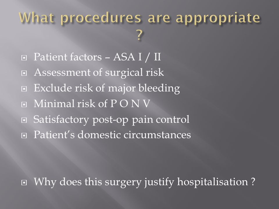 What procedures are appropriate
