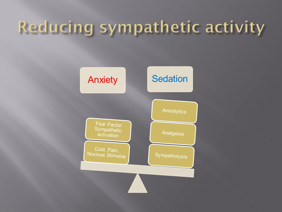 Reducing sympathetic activity