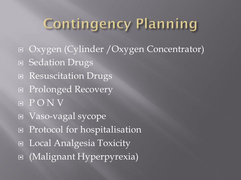 Contingency Planning Oxygen (Cylinder /Oxygen Concentrator)