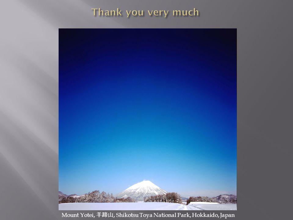 Thank you very much Mount Yotei, 羊蹄山, Shikotsu Toya National Park, Hokkaido, Japan