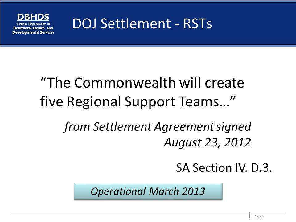 The Commonwealth will create five Regional Support Teams…