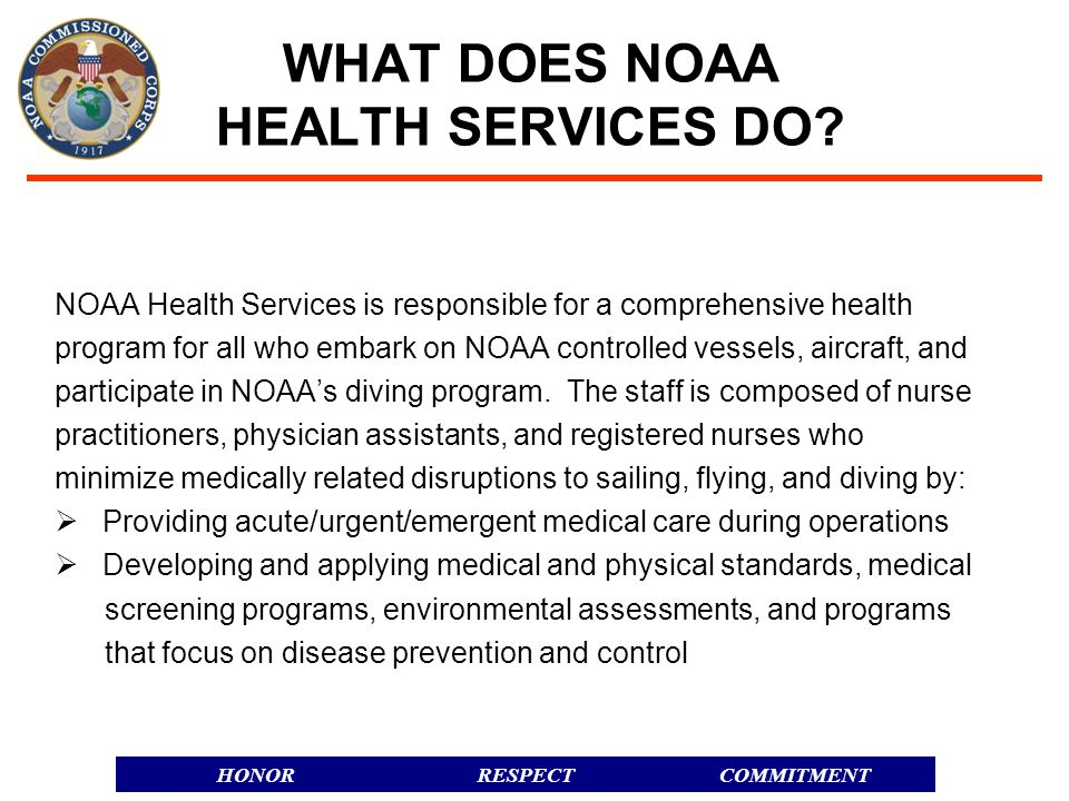 WHAT DOES NOAA HEALTH SERVICES DO