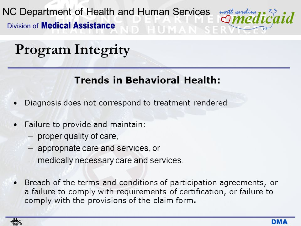 Trends in Behavioral Health: