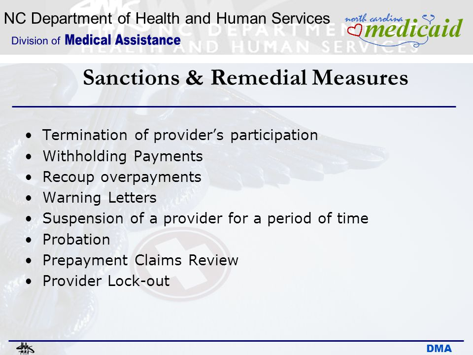 Sanctions & Remedial Measures
