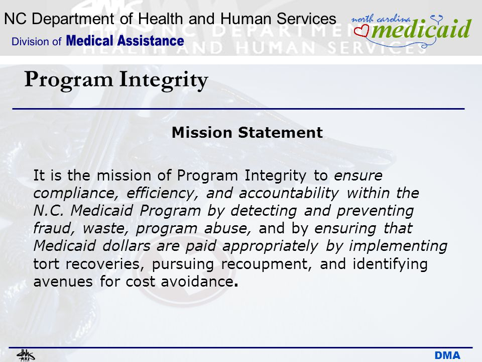 Program Integrity Mission Statement
