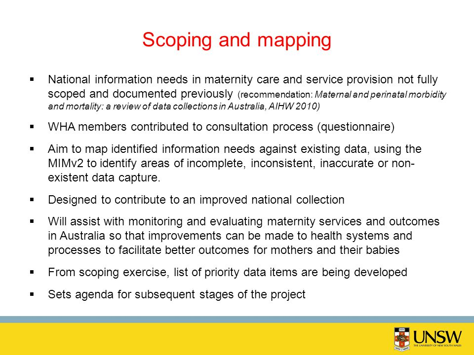 Scoping and mapping