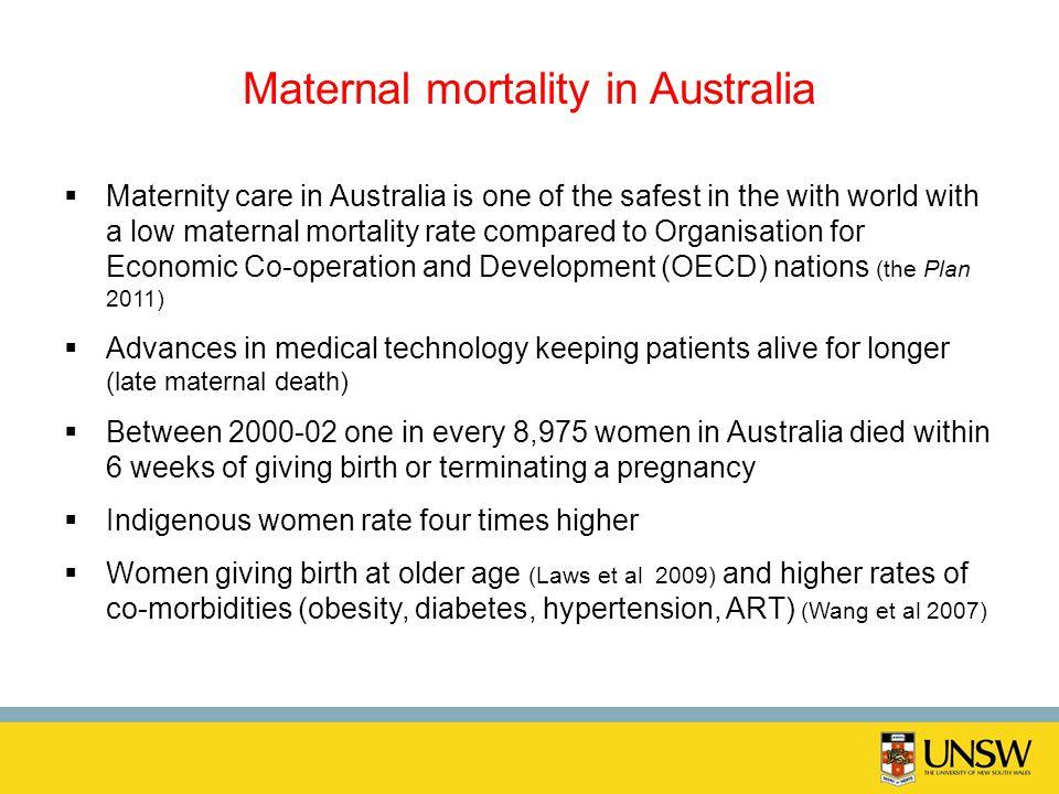 Maternal mortality in Australia