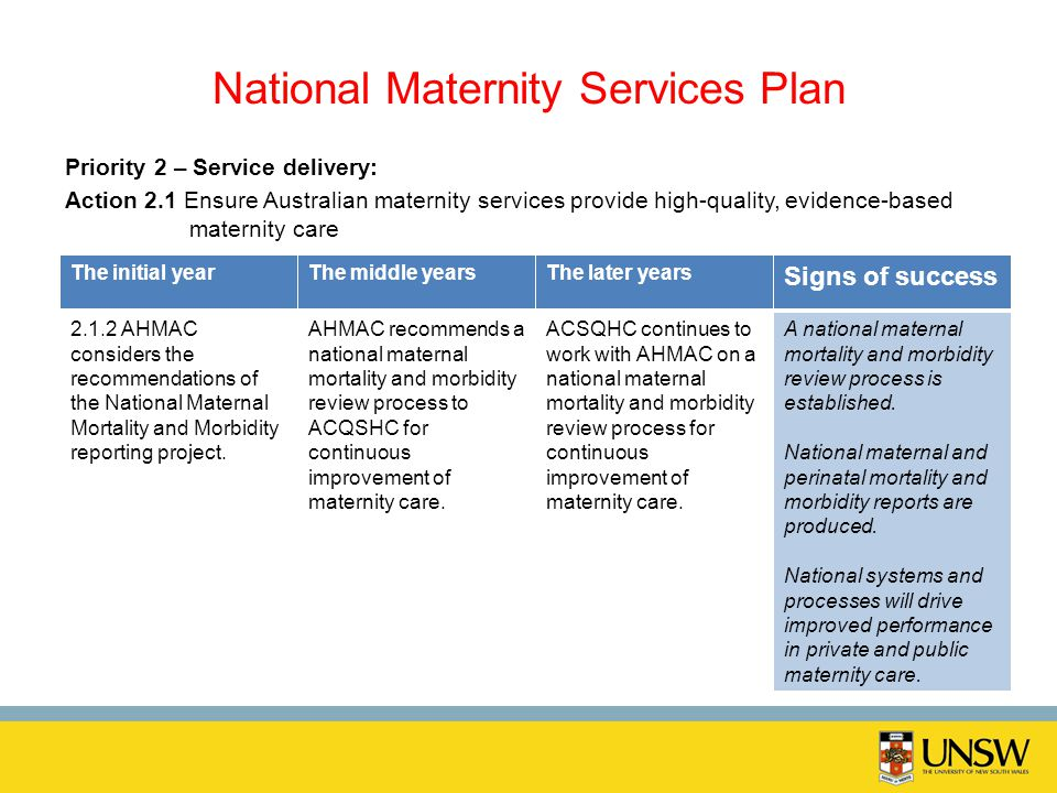 National Maternity Services Plan