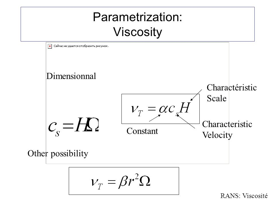 Parametrization: Viscosity