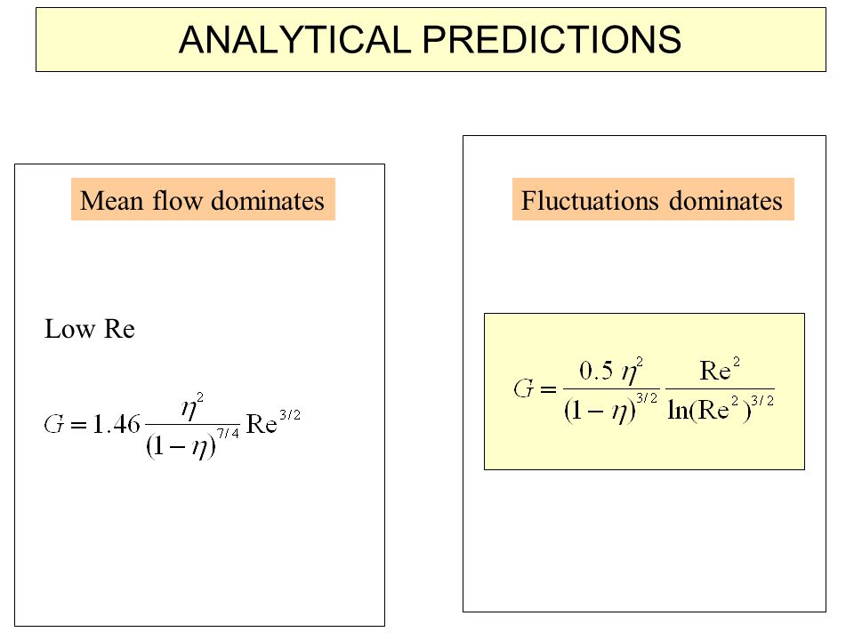 ANALYTICAL PREDICTIONS