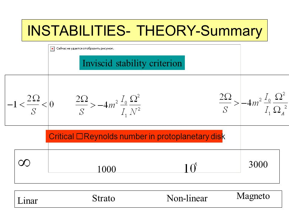 INSTABILITIES- THEORY-Summary