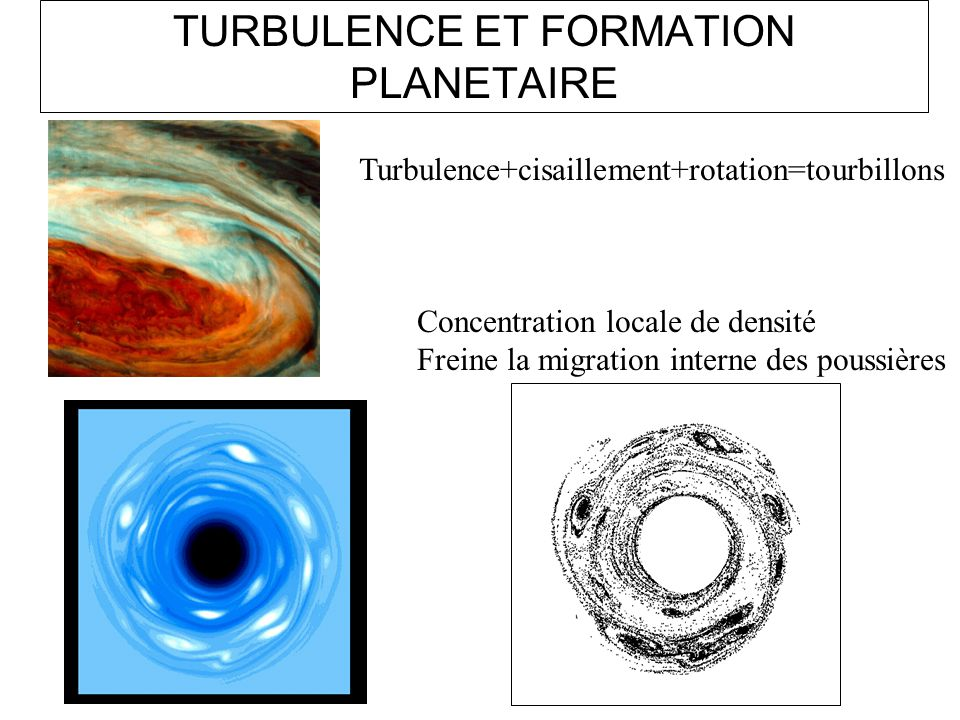 TURBULENCE ET FORMATION PLANETAIRE