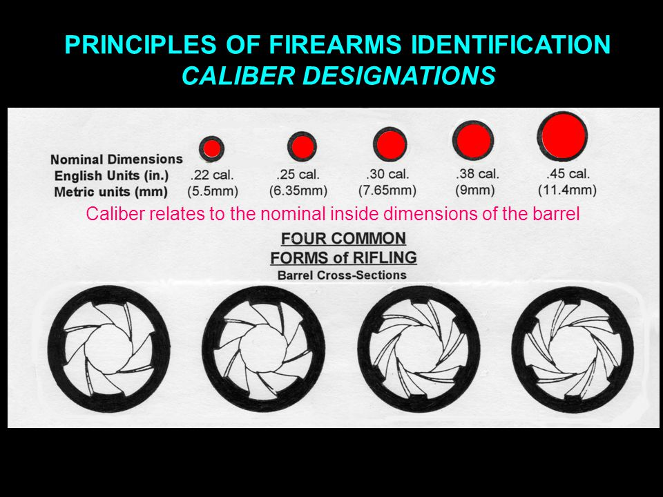 PRINCIPLES OF FIREARMS IDENTIFICATION