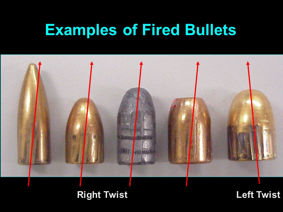 Examples of Fired Bullets