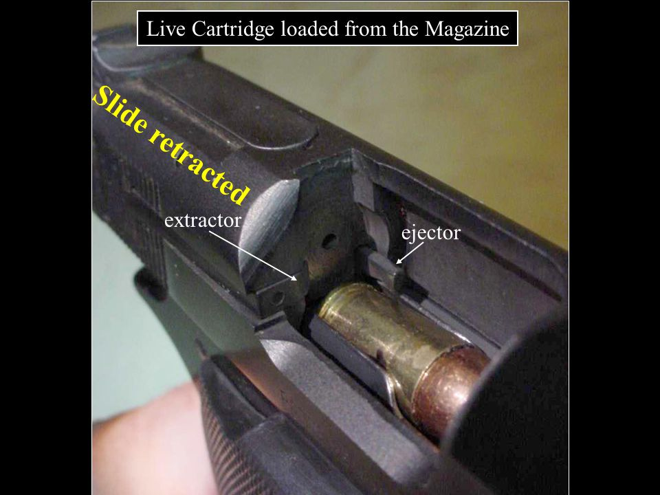 Live Cartridge loaded from the Magazine
