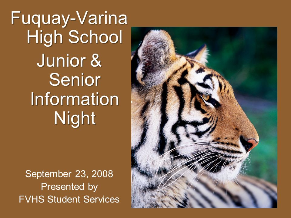 Fuquay-Varina High School Junior & Senior Information Night