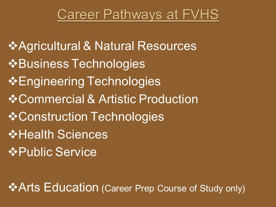 Career Pathways at FVHS