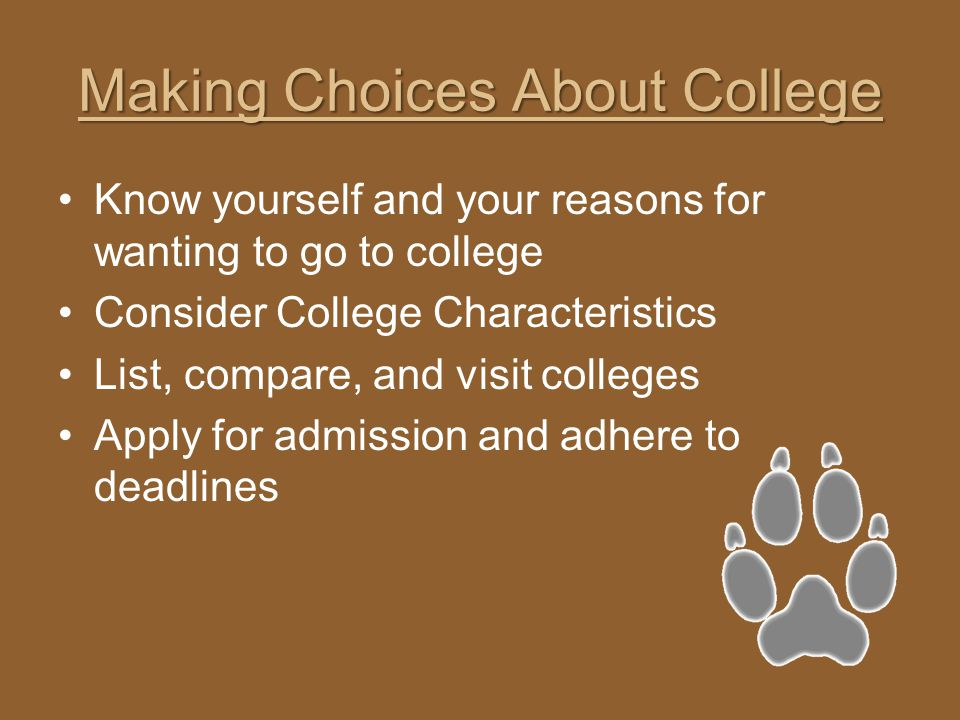 Making Choices About College