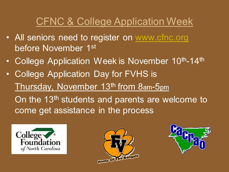 CFNC & College Application Week