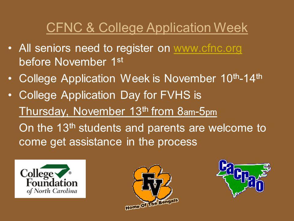 CFNC & College Application Week