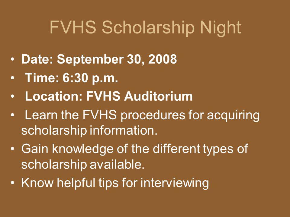 FVHS Scholarship Night