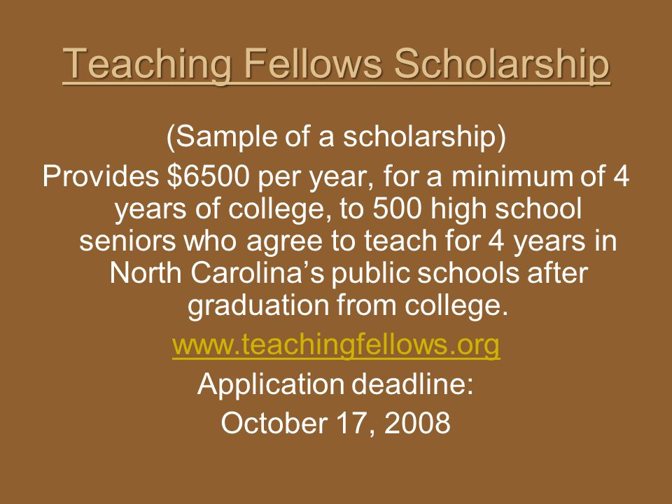 Teaching Fellows Scholarship