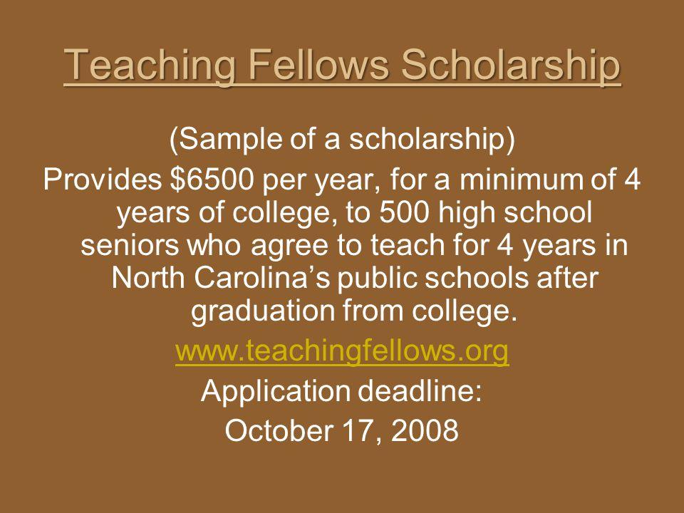Teaching Fellows Scholarship